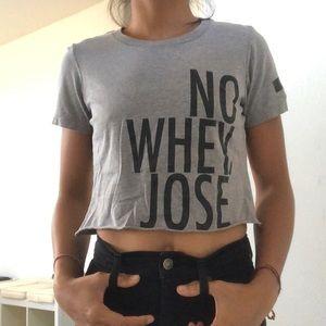 No Whey Jose vegan crop top